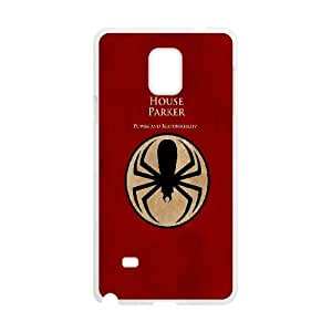 Spiderman House Parker Samsung Galaxy Note 4 Cell Phone Case White DIY GIFT pp001_8012055