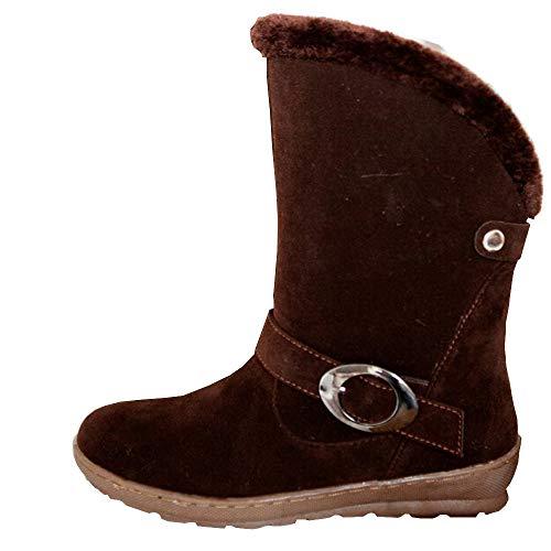 35 Quaste Winter Klassischer Mittelrohrstiefel Broun Sohle Retro Boots Stiefeletten Warme 42 Outdoor Damen Stiefeletten Schneestiefel Weiche Sonnena Rutschfeste HZqwtXX