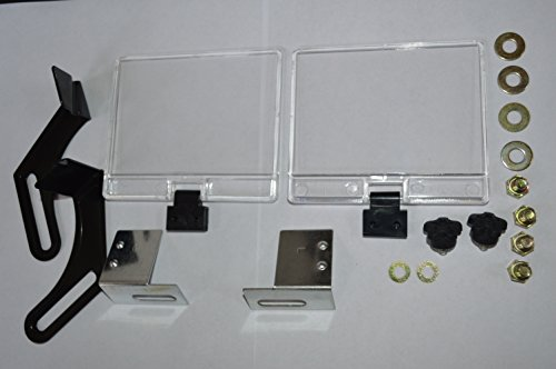 Bench grinder eye shield glass and brackets Replacement