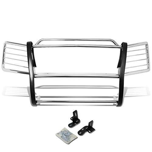 DNA Motoring GRILL-G-005-SS Front Bumper Brush Grille Guard [For 02-06 Chevy Avalanche]