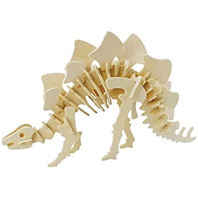JP221 3D Assembly Wooden Animal Puzzle (Dinosaur): Toys & Games
