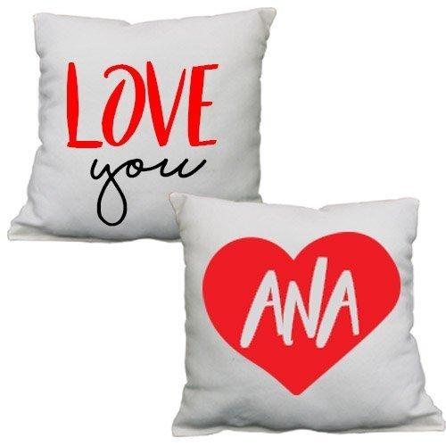 dos cojines personalizados para regalar en San Valentín