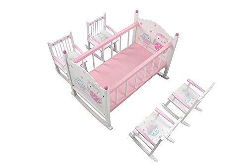 Hoddmimis Wooden Doll Bunk Bed for 18 Inch Dolls WTB02