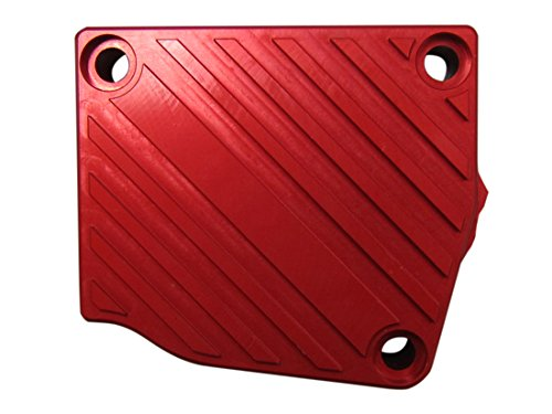 BBR Tuning 2-Stroke Motorized Bicycle Engine Billet Aluminum Drive Sprocket Case Cover - Gas Bike Sprocket Cover Accessory Upgrade (Red)