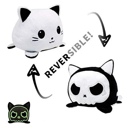 Amazon.com: Reversible Cat Plush Stuffed Siamese Cat Mood Double-Sided Flip- Vivid Expression Mini Gift Toy for Kids (Luminous Cat): Baby
