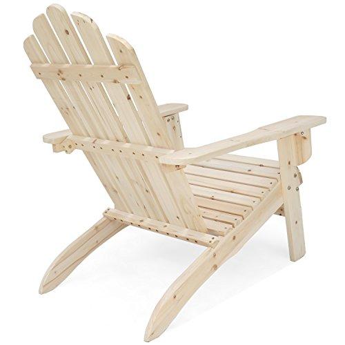 Songsen Outdoor Log Wood Adirondack Lounge Chair Patio Deck Import