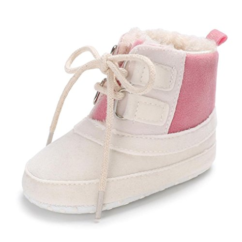TPulling Mode Junge Und Mädchen Herbst Und Winter Säuglingsbaby Plus Warme Stiefel Der Baumwolle Lädt Kleinkindschuhe Auf Weiß