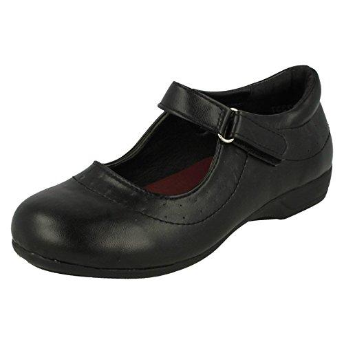 Mädchen Spot auf Klettverschluss Schule Schuhe Schwarz