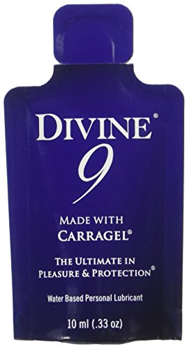 Divine 9 Water Based Personal Lubricant Single Packets, 50 Count by Divine 9