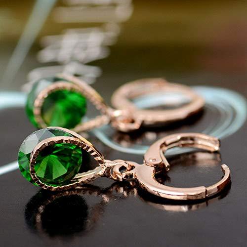 Dokis Hot Sale 18K Gold Plated Earrings 9 Colors CZ Crystal Dangle Earrings Ear Hoop | Model ERRNGS - 16362 |