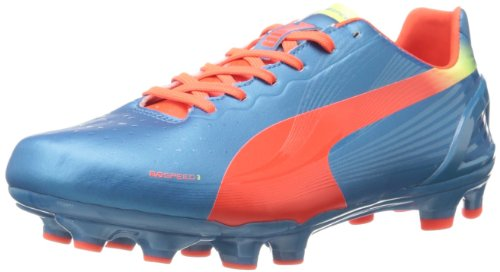 PUMA Mens Evospeed 3.2 Firm Ground Soccer Shoe Sharks Blue/Fluorescent Orange/Fluorescent Yellow kQLvnKS