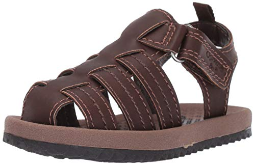 OshKosh B'Gosh Callum Boy's Fisherman Sandal Sandal, Brown, 8 M US Toddler