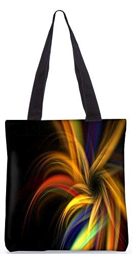 """Snoogg Abstrakte Bunte Muster - Einkaufstasche 13,5 X 15 In """"Shopping - Dienstprogramm Tragetasche Aus Polyester Canvas"""