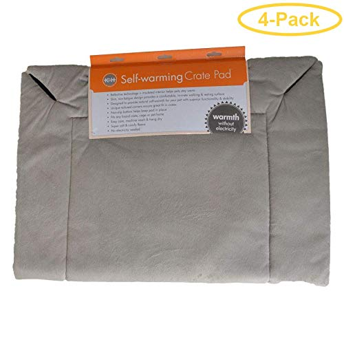 K&H Self-Warming Crate Pad - Gray 25'' Long x 37'' Wide - Pack of 4