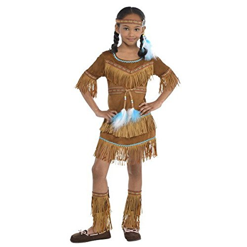 (AMSCAN Dream Catcher Cutie Native American Halloween Costume for Girls, Extra Large, with Included)