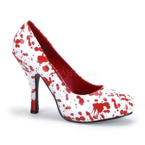 Funtasma Women's Bloody-12 Pump,White/Red,10 M (Nurse Costume Shoes)