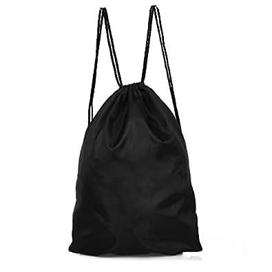 Bolsa de Compras Nilón Mochila Saco para Mercado Color Negro