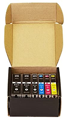 6 Pack Arthur Imaging Compatible Ink Cartridge Replacement for 270XL 271XL (2 Large Black, 1 Small Black, 1 Cyan, 1 Yellow, 1 Magenta, 6-Pack)