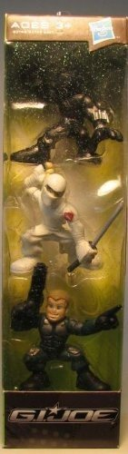 G.I. Joe Combat Heroes Stocking Stuffers 3-Pack Snake Eyes, Storm Shadow & Conrad