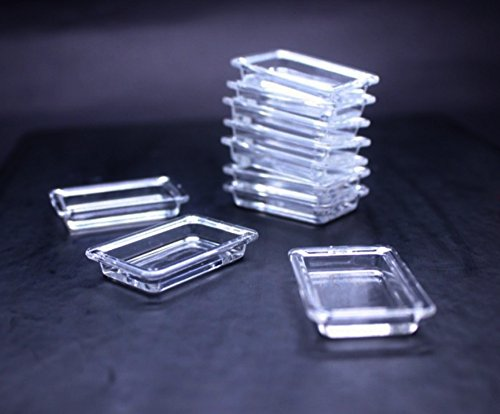 10 Psc of Transparent Plastic Tray Dollhouse Miniature Handmade Food (Milk Bottle Halloween Lanterns)