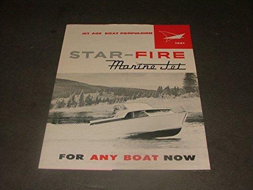 1961 Star-Fire Marine Jet Advertising Mailer Jet Age Boat - Star Starfire