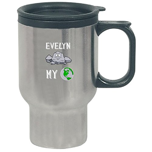 - Evelyn Rocks My World Funny Cute Valentines Gift - Travel Mug