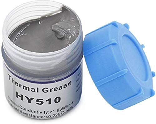 DIGIFLOOR 10g Grey Heat Sink Compound Thermal Silicon Conductive Grease Paste for PC CPU GPU Chipset Ovens Cooling Pack…