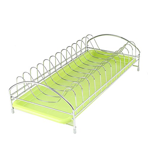 uxcell Dish Plate Rack Drying Organizer Drainer Storage Holder Kitchen Restaurant by uxcell