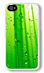 Abstract Green Water Droplets Custom iphone 5 5s Case Back Cover, Snap-on Shell Case Polycarbonate PC Plastic Hard Case white