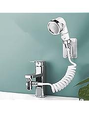 Badkamer Wastafel Kraan Sproeier Set, Sink Slang Sproeier Attachment Haar Waskraan Extension Handdouche Quick Connect Sink,Kraan Omvormer Waarde met Adapter Connect voor Badkamer en Bijkeuken