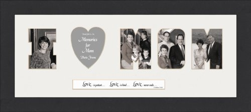 word photo mat i love mom photo frame 8 x 20 amazonin home kitchen - Mom Picture Frame