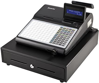 electrónica Caja registradora Sam4s unidades de 920, Caja Sistema con plano Teclado (150 libre de teclas programable), incluye impresora térmica + Caja registradora, (equivalente a las Directivas GDPdU la ämter Financieros): Amazon.es: