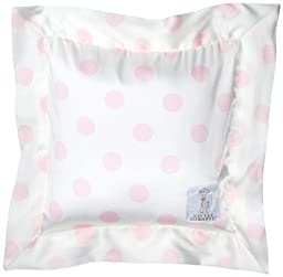 Little Giraffe Luxe Cream Dot Pillow, Pink