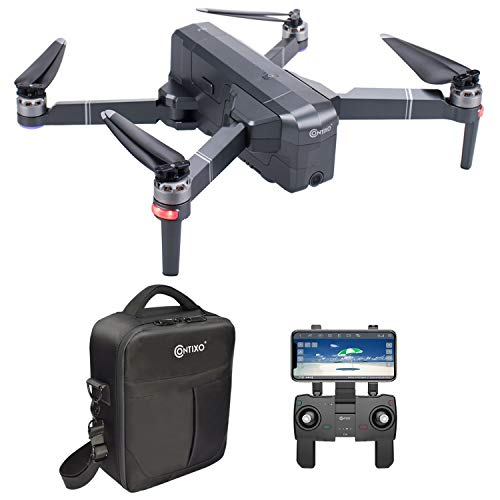 Contixo F24 Brushless Foldable Quadcopter Drone | Selfie, Gesture, Gimbal 5GHz 1080P WiFi Camera, GPS, Auto Hover, Follow Me, Waypoint 30 Minutes Flying Time Includes Storage Case (F24)