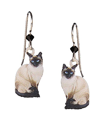 (Sienna Sky Earrings: Siamese Cats)