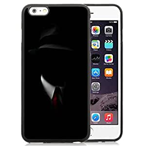 NEW Unique Custom Designed iPhone 6 Plus 5.5 Inch Phone Case With Shadow Man Black Suit Hat Red Tie_Black Phone Case