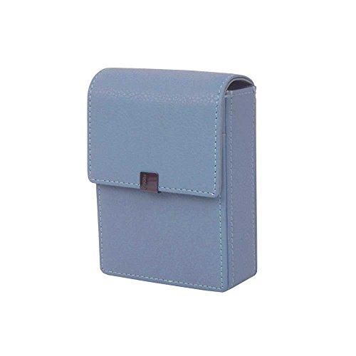 Genuine Leather Cigarette & Lighter Case with Card Holder Sky ()
