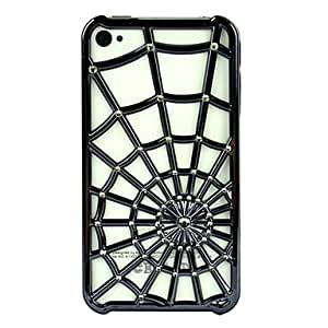 Spider Web Hollow Pattern Cover Case Protector For Apple Iphone 4 4S Black --- COLOR:Black