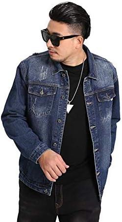 メンズ ゆったり 大きいサイズ Gジャン デニム ジャケット ビッグサイズ アウター ジージャン 秋 冬 春 カジュアル RE62