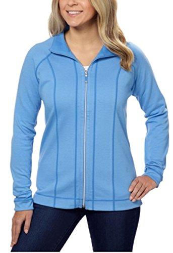 Kirkland Signature Ladies' Reversible Full Zip Jacket (Medium, Blue) (Jacket Zip Wool Short)
