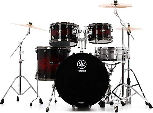 (Yamaha Live Custom Hybrid Oak 4-piece Shell Pack - Magma)