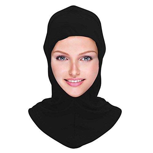 - Modal Super Elastic Breathable Muslim Cap Women Cotton Adjustable Under Hijab Cap Islamic Scarfs Stretch Bonnet Black