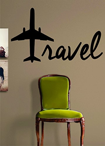 Travel Airplane Quote Decal Sticker product image