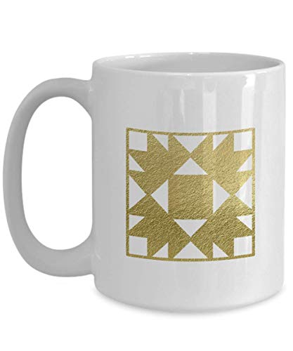 Bear's Paw Quilting Block Coffee Mug Gift - Quilt Gift for Quilter