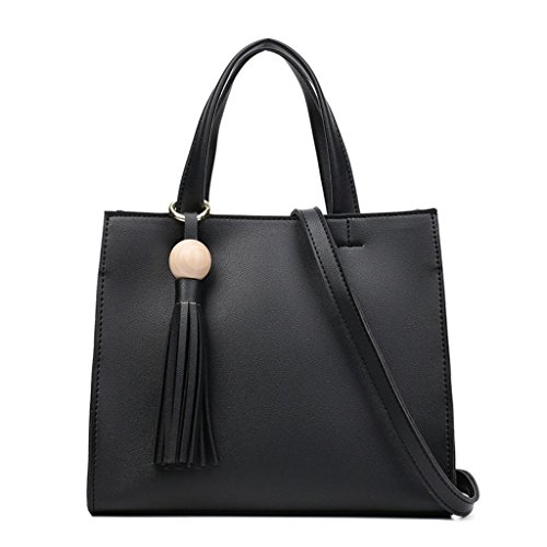 della borse Borsa di delle della tracolla di cuoio donne di dell'unità borsa elaborazione modo spalla NVBAO diagonale a black delle ZdFqFwv