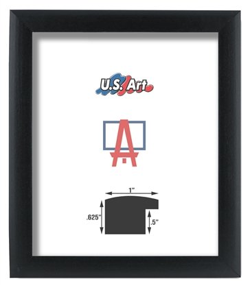 Amazon.com - US Art Frames 12x36 Black 1 Inch, Nugget MDF Wood ...