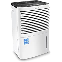 Ivation 70 Pint Energy Star Compressor Dehumidifier - Large-Capacity for Spaces Up to 4,500 Sq Ft - Includes Programmable Humidistat, Hose Connector, Auto Shutoff/Restart & Washable Air Filter