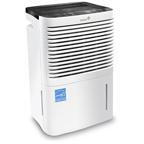 Ivation 70 Pint Energy Star Compressor Dehumidifier with Pump, Large Capacity for Spaces Up To 4,500 Sq Ft, Includes Programmable Humidity, Hose Connector, Auto Shutoff and Restart and Washable Filter