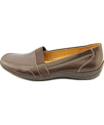 Naturalizer Womens Fritz Leather Square Toe Oxfords, Brown Leather, Size 9.0