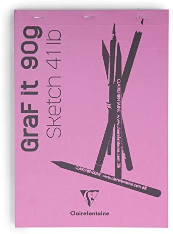 "Clairefontaine 96668C Skizzenblock ""Graf it"", DIN A6, 90g, 80 Blatt Rosa"